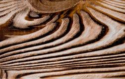 Fine di legno di struttura del fondo invecchiata annata di marrone scuro su immagini stock