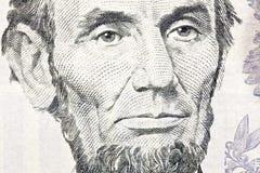 Fine di macro del Ben Franklin su $100 Bill Immagini Stock Libere da Diritti