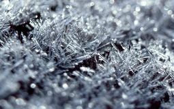Fine di macro del gelo su Fotografia Stock