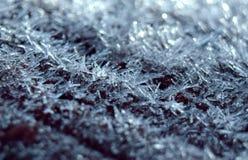 Fine di macro del gelo su fotografie stock libere da diritti