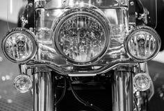 Fine di macro della lampada del motociclo su Immagine Stock