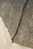 Fine di pietra unica di struttura sulla vista Fotografia Stock