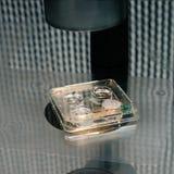 Fine di processo di fecondazione in vitro su Attrezzatura sul laboratorio di fecondazione, IVF Fotografie Stock Libere da Diritti