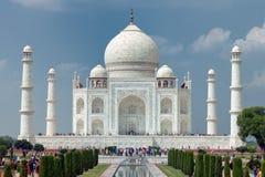 Fine di Taj Mahal su immagine stock libera da diritti