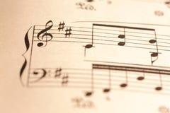 Fine di tasto del violino in su Immagini Stock