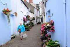 Fine di Tenby, Tenby, Galles del sud, Regno Unito Immagine Stock