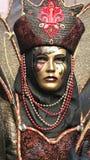 Fine di travestimento di Carnivale in su Immagine Stock