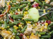 Fine di verdure dello stufato sulla verdura fotografia stock libera da diritti