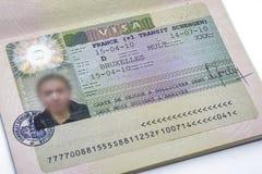 Fine di visto di Schengen del francese su Fotografia Stock Libera da Diritti