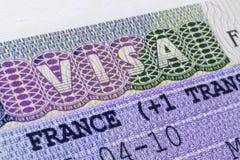 Fine di visto di Schengen del francese su Immagine Stock Libera da Diritti