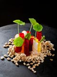 Fine dining appetizer in a gourmet restaurant Royalty Free Stock Photography
