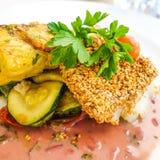 Fine dining cuisine Stock Images