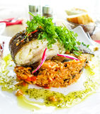 Fine dining cuisine Royalty Free Stock Photo