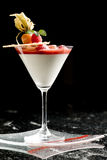 Fine dining dessert cocktail with fruit toppings Stock Image