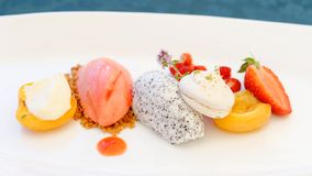 Fine dining dessert Stock Photography