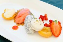 Fine dining dessert Royalty Free Stock Photography
