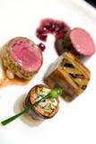 Fine dining - Entrees Stock Photos