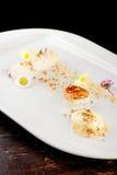 Fine dining gourmet dessert Stock Image
