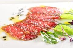 Free Fine Dining, Kobe Beef Carpaccio Royalty Free Stock Image - 98853706