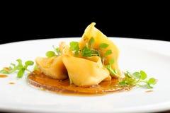 Fine dining, Lamb ragu ravioli Stock Image