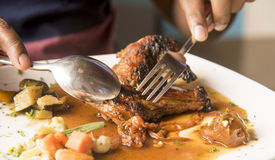 Fine dining Meal Stock Image