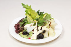 Fine dining meal, rucola salad Royalty Free Stock Photography