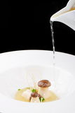 Fine dining, mushroom Porcini soup Stock Photography