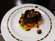 Gourmet Menu dish royalty free stock image