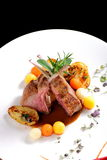 Fine dining, roasted Lamb chops with potato Stock Photography
