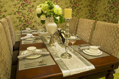 Fine dining room Stock Photos