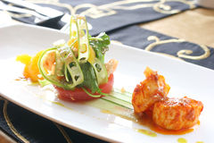 Fine Dining Scallops Royalty Free Stock Images