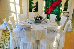 Fine dining table Stock Photos
