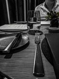 Fine dining view stock photography