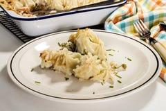 Fine dinning ireland, irish home made fish pie stock photo