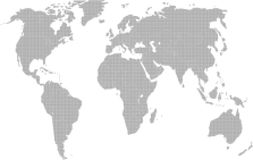 Fine dotted world map Stock Images
