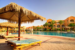 Fine egyptian resort early morning. Royalty Free Stock Images