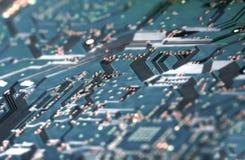 Fine elettronica del circuito in su Fotografie Stock Libere da Diritti