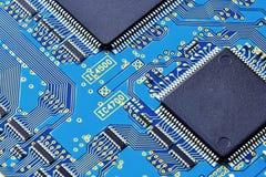 Fine elettronica del circuito in su Immagini Stock