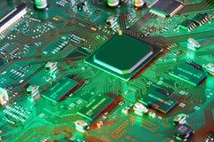 Fine elettronica del circuito in su Fotografia Stock Libera da Diritti