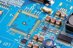 Fine elettronica del circuito in su Fotografia Stock