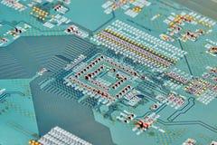 Fine elettronica del circuito in su Immagine Stock
