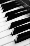 Fine elettronica della tastiera di piano in su immagine stock libera da diritti