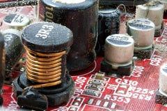 Fine elettronica sporca del circuito in su Fotografia Stock Libera da Diritti