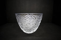 Fine empty crystal bowl Stock Images