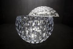 Fine empty crystal bowl Royalty Free Stock Photography