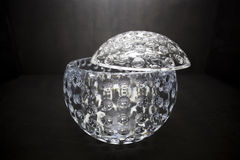 Fine empty crystal bowl Stock Photography