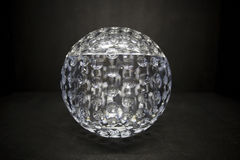 Fine empty crystal bowl Royalty Free Stock Photos