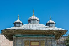 Fine example of ottoman Turkish architecture. Masterpieces stock photo