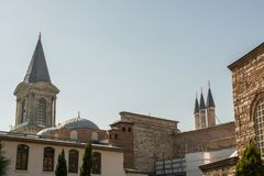 Fine example of ottoman Turkish tower architecture. Masterpieces Royalty Free Stock Images