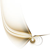 Fine Feather. White background with stylized feather Royalty Free Stock Image